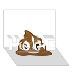 Poop Hope 3d Greeting Card (7x5)