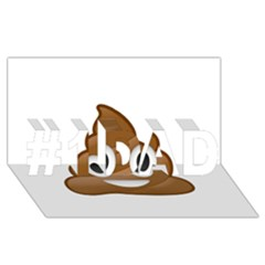 Poop #1 Dad 3d Greeting Card (8x4)