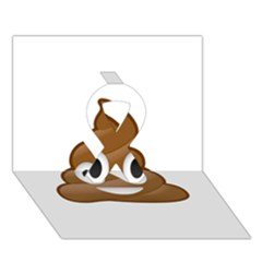 Poop Ribbon 3d Greeting Card (7x5)