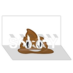Poop SORRY 3D Greeting Card (8x4)