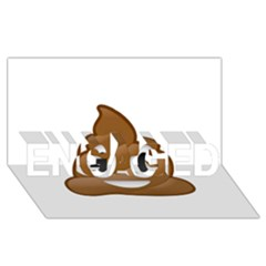 Poop Engaged 3d Greeting Card (8x4)