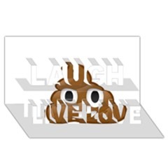 Poop Laugh Live Love 3d Greeting Card (8x4)