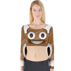 Poop Long Sleeve Crop Top