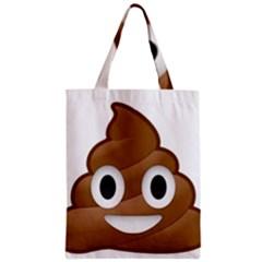 Poop Zipper Classic Tote Bags