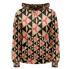 Shapes In Triangles Pattern Pullover Hoodie