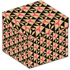 Shapes in triangles pattern Storage Stool