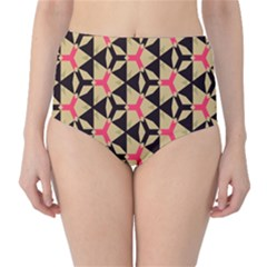 Shapes in triangles pattern High-Waist Bikini Bottoms