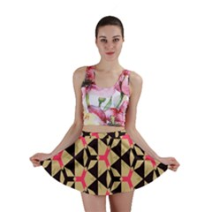 Shapes in triangles pattern Mini Skirt