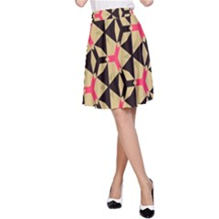 Shapes in triangles pattern A-line Skirt