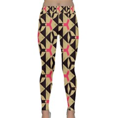 Shapes In Triangles Pattern Yoga Leggings