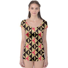 Shapes in triangles pattern Short Sleeve Leotard
