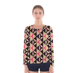 Shapes in triangles pattern Women Long Sleeve T-shirt