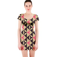 Shapes in triangles pattern Short sleeve Bodycon dress