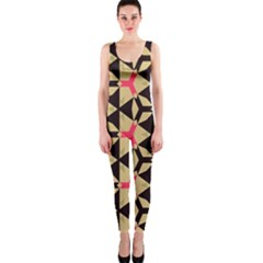 Shapes in triangles pattern OnePiece Catsuit