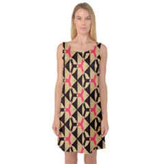 Shapes in triangles pattern Sleeveless Satin Nightdress