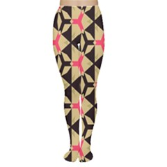 Shapes In Triangles Pattern Tights