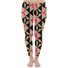 Shapes in triangles pattern Winter Leggings