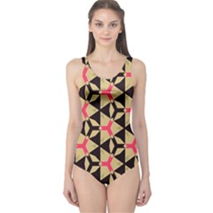 Shapes In Triangles Pattern Women s One Piece Swimsuit