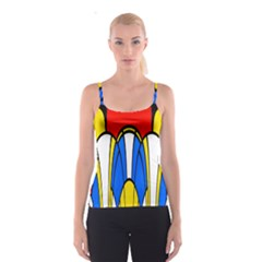 Colorful distorted shapes Spaghetti Strap Top