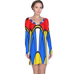 Colorful distorted shapes nightdress