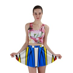 Colorful distorted shapes Mini Skirt