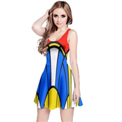 Colorful distorted shapes Sleeveless Dress