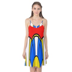 Colorful distorted shapes Camis Nightgown