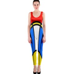 Colorful Distorted Shapes Onepiece Catsuit