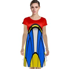 Colorful distorted shapes Cap Sleeve Nightdress