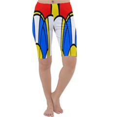 Colorful distorted shapes Cropped Leggings