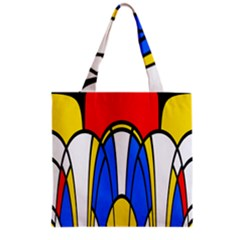 Colorful distorted shapes Grocery Tote Bag