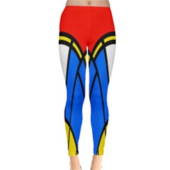 Colorful distorted shapes Leggings