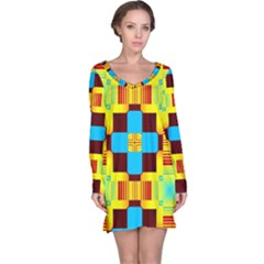 Abstract yellow flowers nightdress