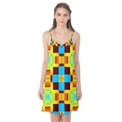 Abstract yellow flowers Camis Nightgown
