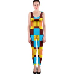 Abstract yellow flowers OnePiece Catsuit