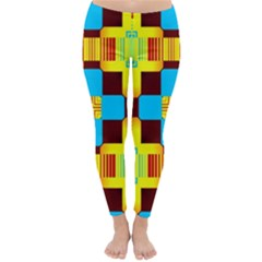 Abstract yellow flowers Winter Leggings