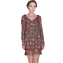 Floating squares nightdress