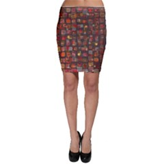 Floating Squares Bodycon Skirt