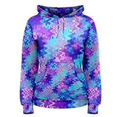 Blue and Purple Marble Waves Women s Pullover Hoodies
