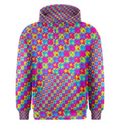 Crazy Yellow and Pink Pattern Men s Pullover Hoodies