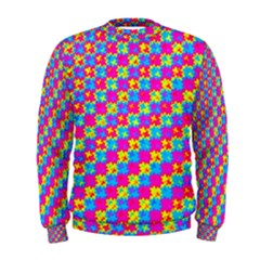 Crazy Yellow and Pink Pattern Men s Sweatshirts