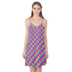 Crazy Yellow and Pink Pattern Camis Nightgown