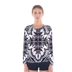 Doodle Cross  Women s Long Sleeve T-shirt