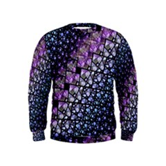 Dusk Blue And Purple Fractal Kid s Sweatshirt