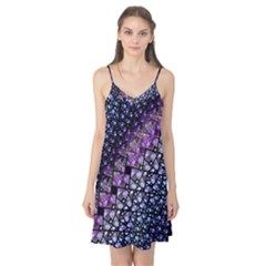 Dusk Blue and Purple Fractal Camis Nightgown