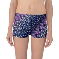 Dusk Blue and Purple Fractal Boyleg Bikini Bottoms