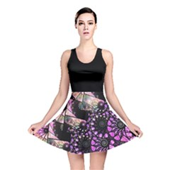 Hippy Fractal Spiral Stacks Reversible Skater Dress