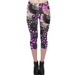 Hippy Fractal Spiral Stacks Capri Leggings