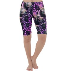 Hippy Fractal Spiral Stacks Cropped Leggings