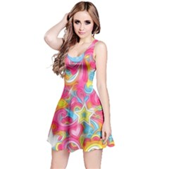 Hippy Peace Swirls Reversible Sleeveless Dress